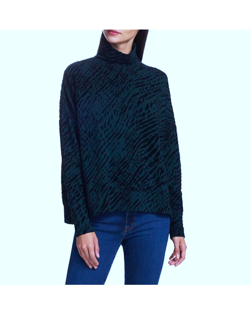 Majestic French Terry Turtleneck