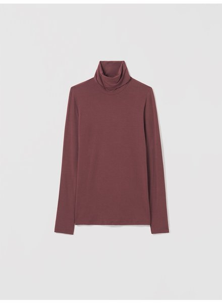 Majestic Long Slv Boxy Turtleneck