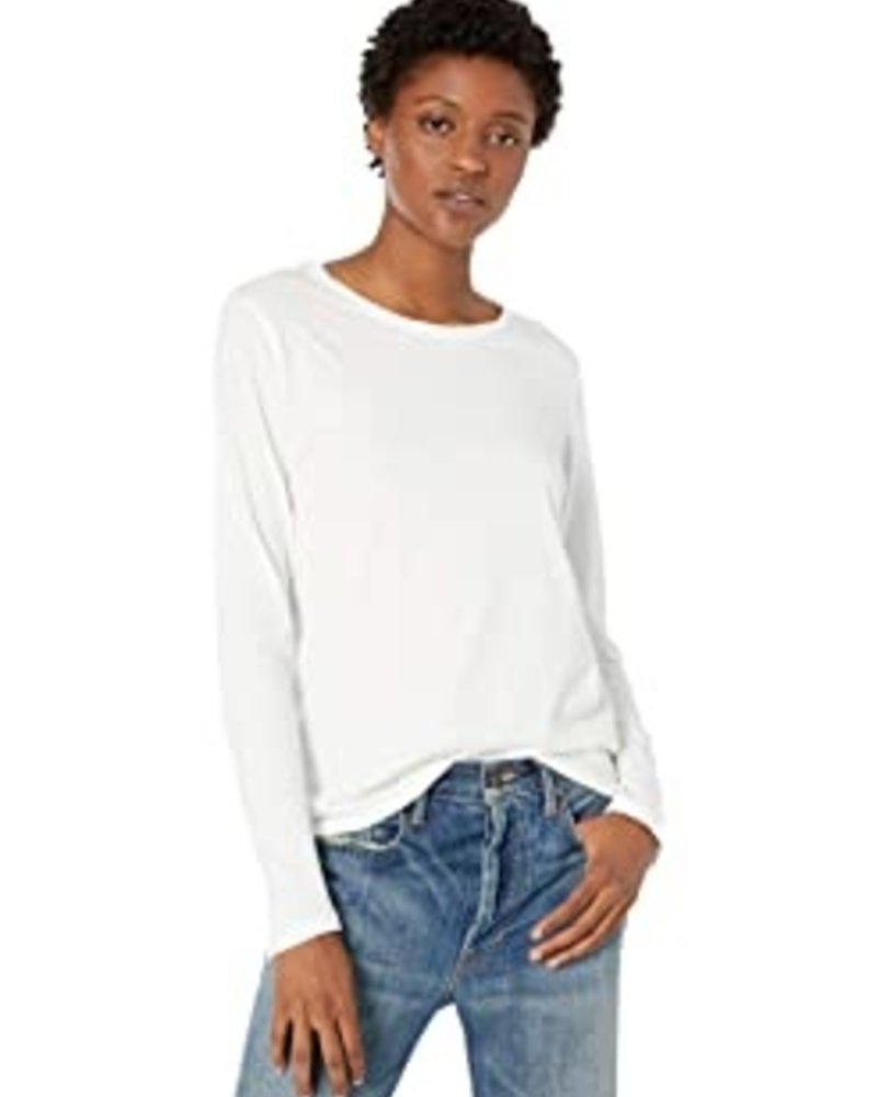 Majestic Long Slv Boxy Crew Neck