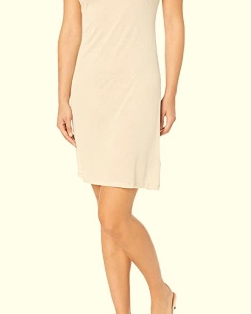 Majestic Viscose Mini Slip Dress/ Dune/ Size 4
