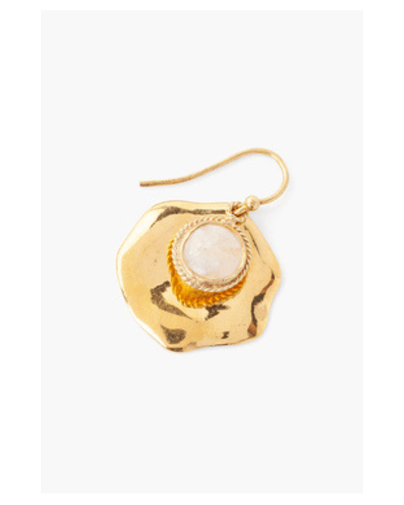 Chan Luu Stone Thumbprint Earrings Moonstone