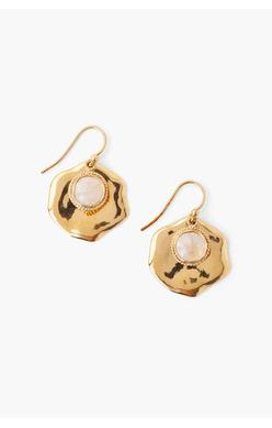 Chan Luu Stone Thumbprint Earrings Moonstone