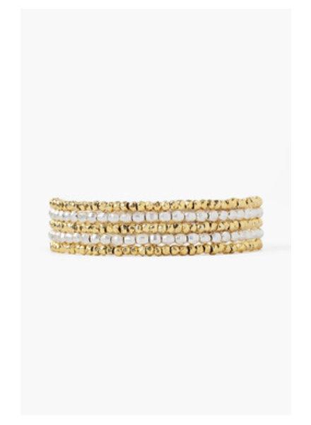 Chan Luu Wrap Bracelet Silver/Gold Mix