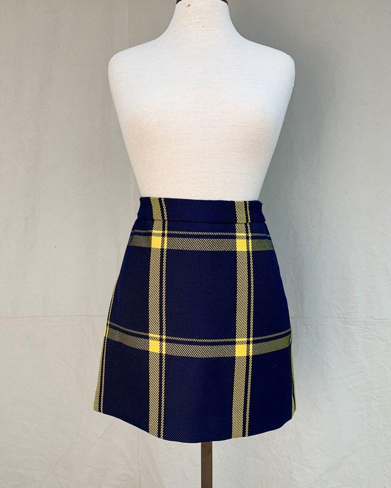 Milly *Modern Mini Skirt - Navy/Gold/4