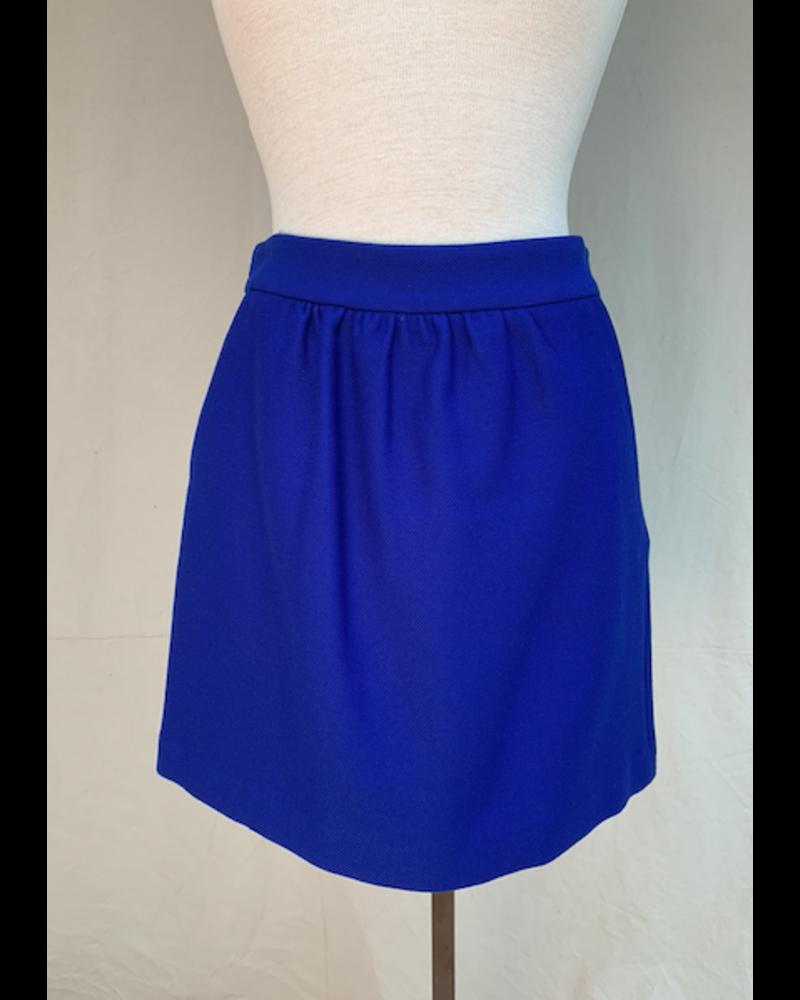 Milly Gathered Mini Skirt