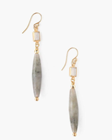 Chan Luu Tiered Lab & Moonstone Earrings