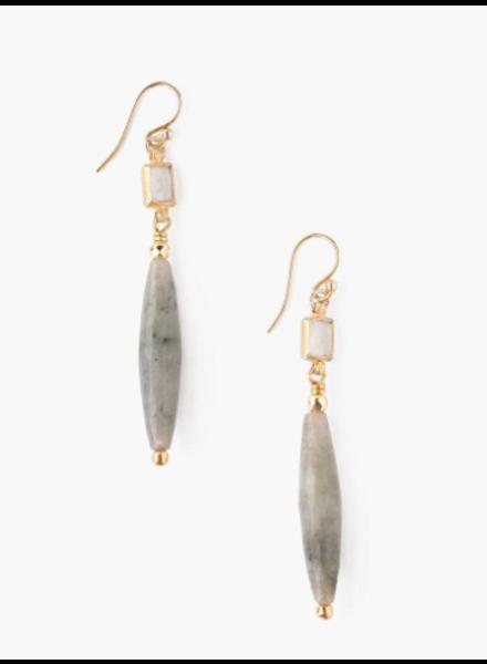 Chan Luu Tiered Lab & Moonstone Earrings