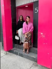 First Born Knitwear Garter V Neck Pink