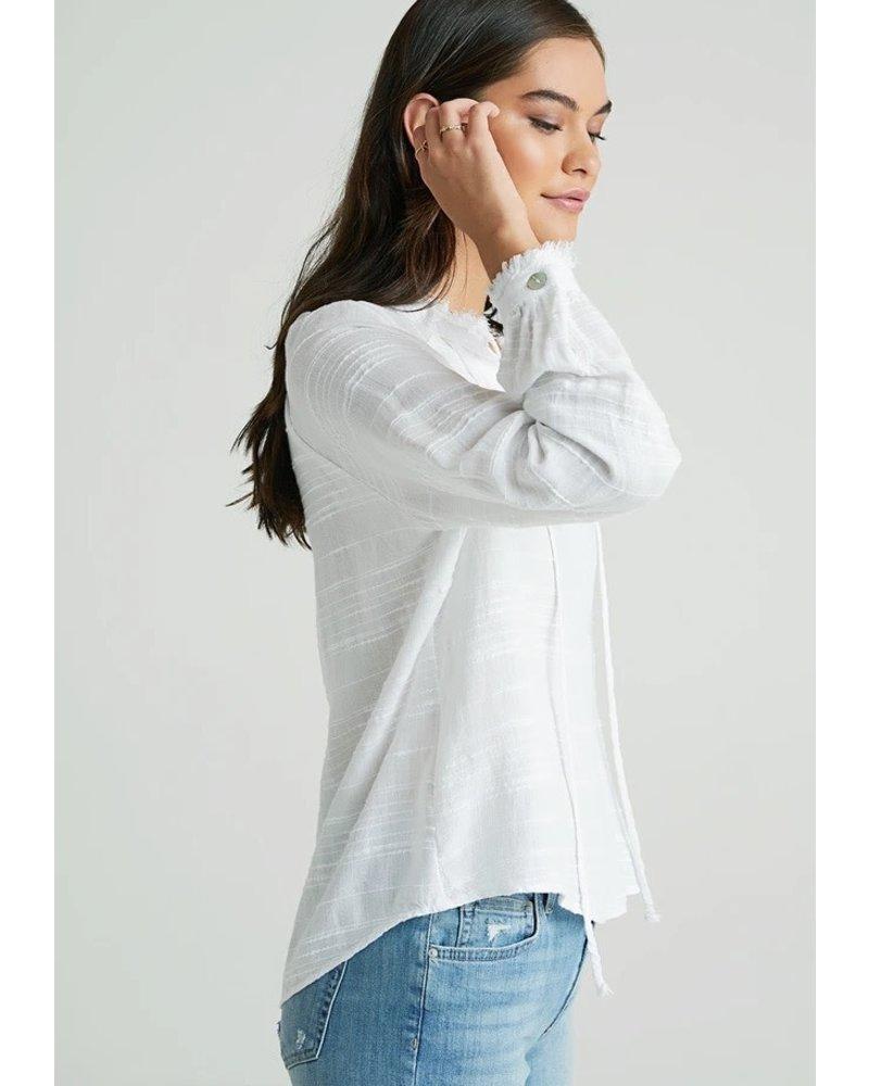 Bella Dahl Ruffle Neck Pullover