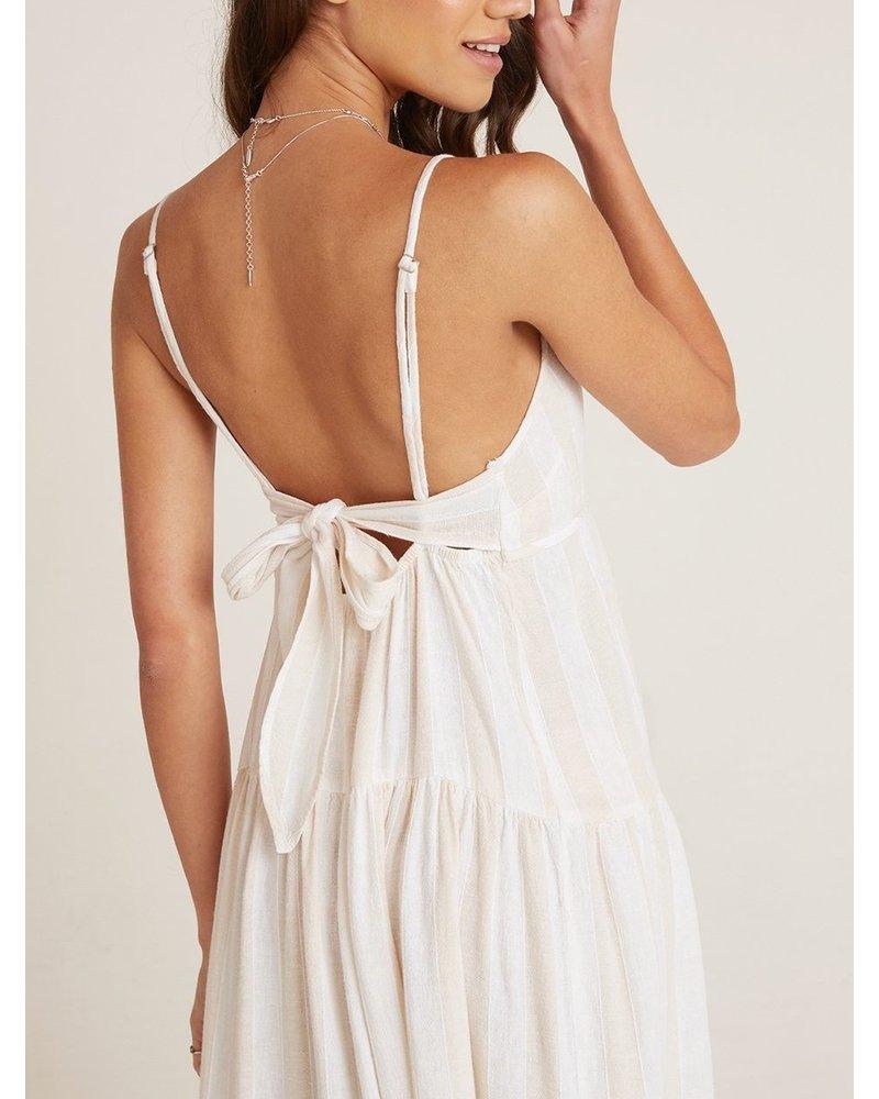 Bella Dahl Tiered Tie Back Maxi Dress
