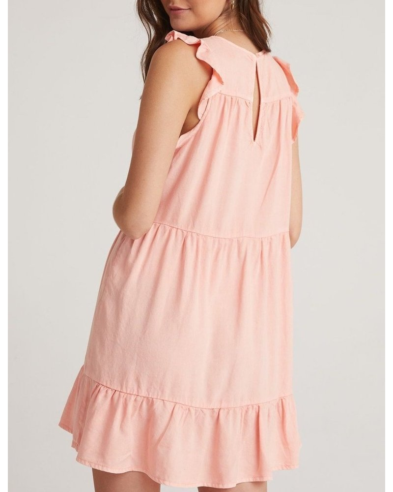 Bella Dahl Ruffle Sleeve Tiered Dress