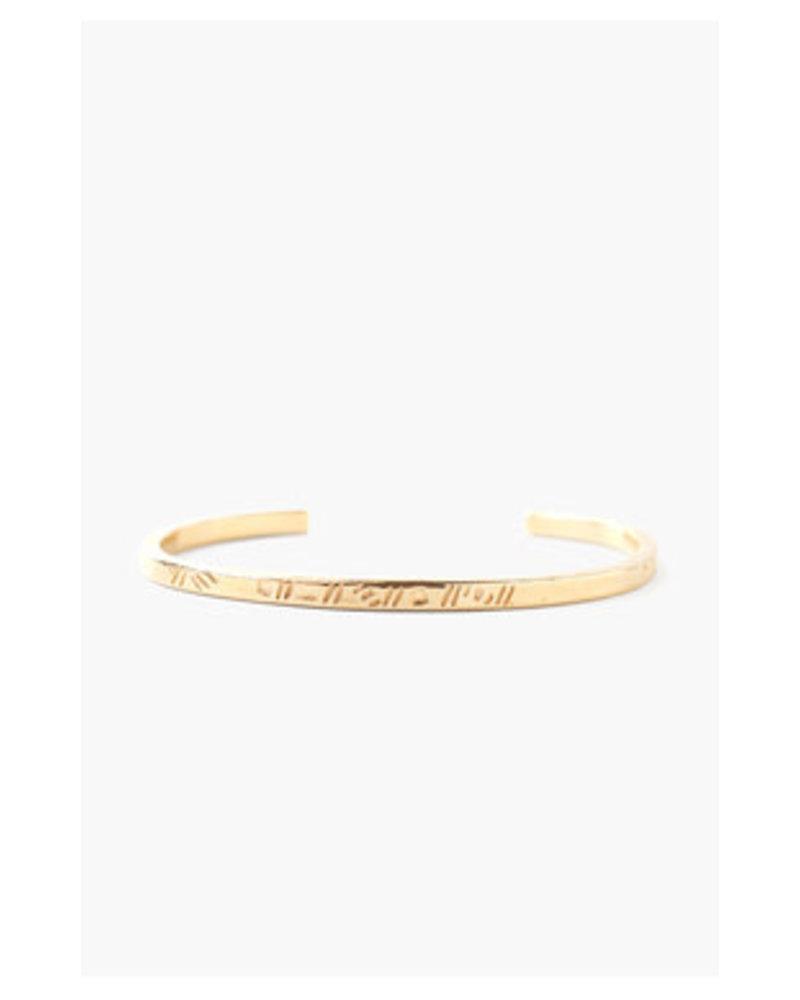 Chan Luu Engraved Cuff Bracelet