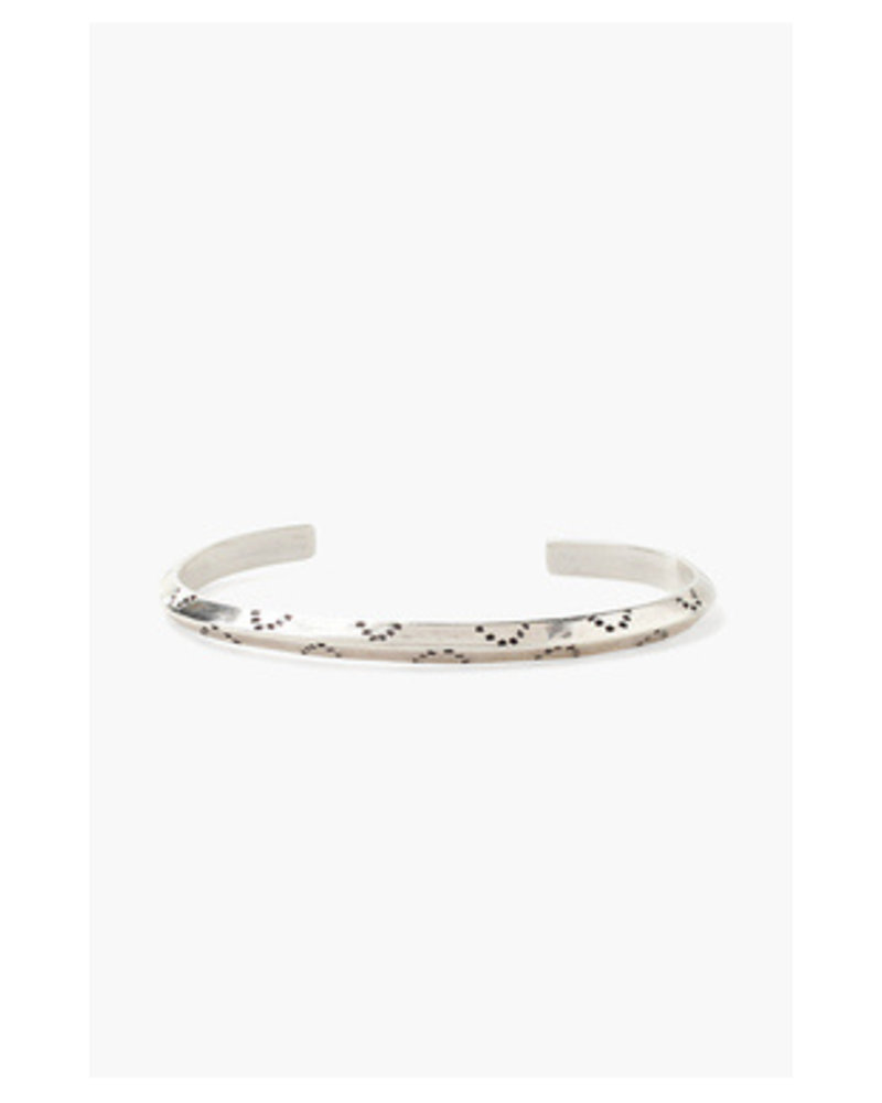 Chan Luu Dot Engraved Cuff Bracelet