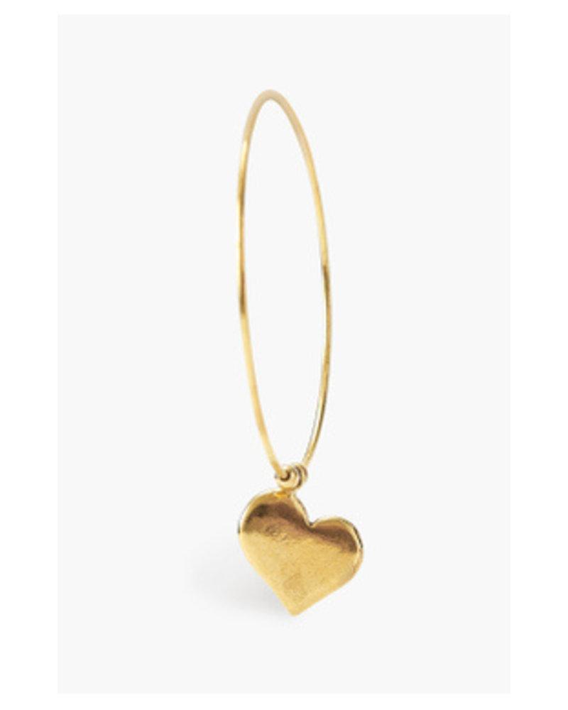 Chan Luu Heart Hoop Gold Earrings