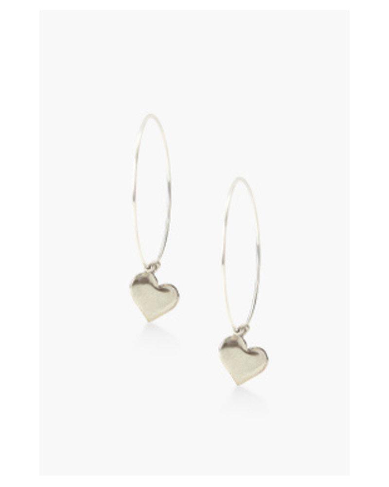 Chan Luu Heart Hoop Earrings