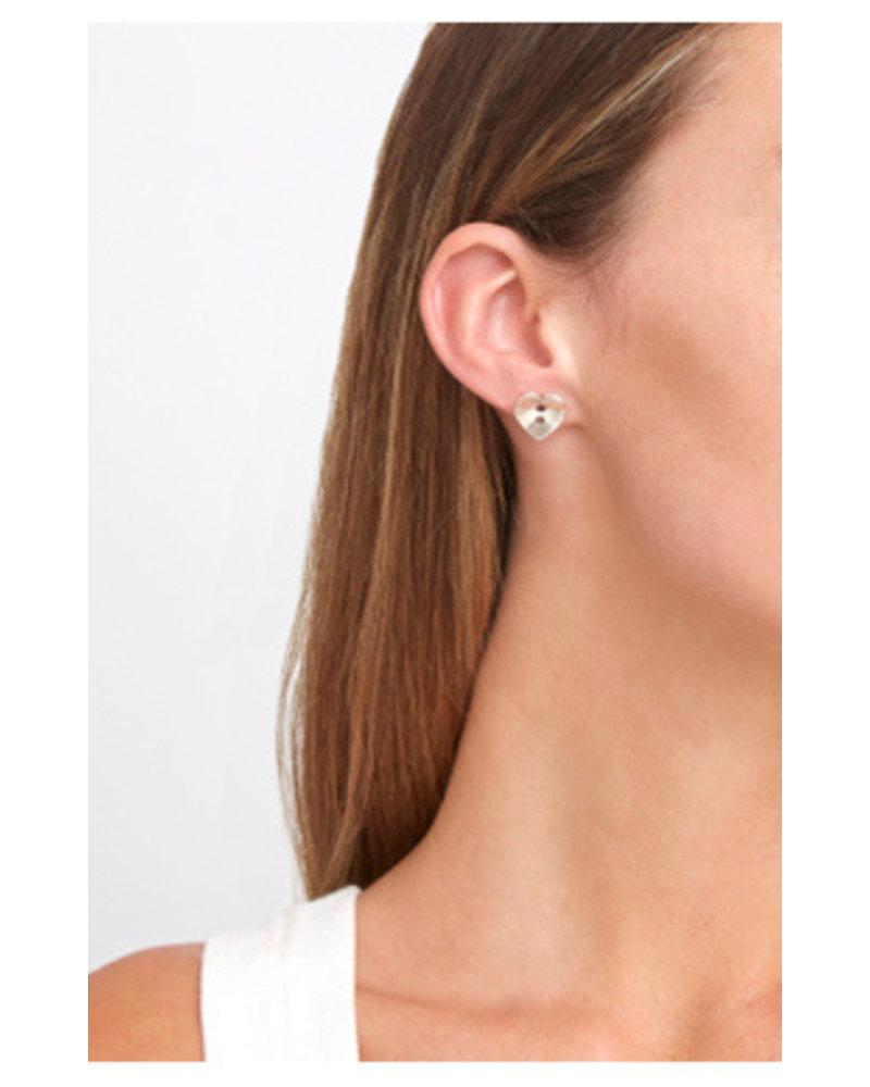 Chan Luu Heart Button Earrings