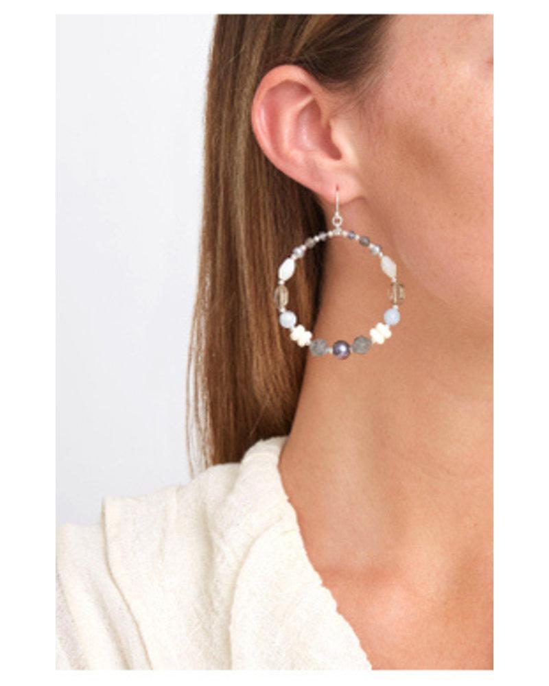 Chan Luu Mixed Hoop Earrings