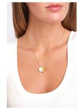 Chan Luu Graduated Button Necklace