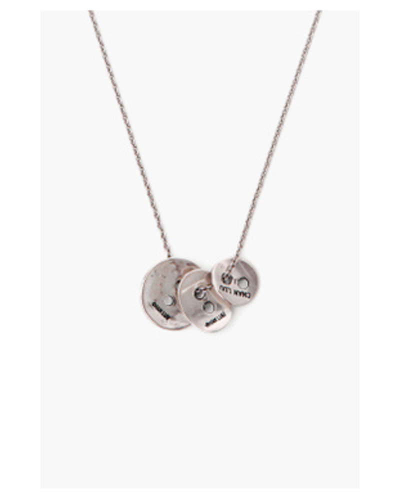 Chan Luu Graduated Button Necklace