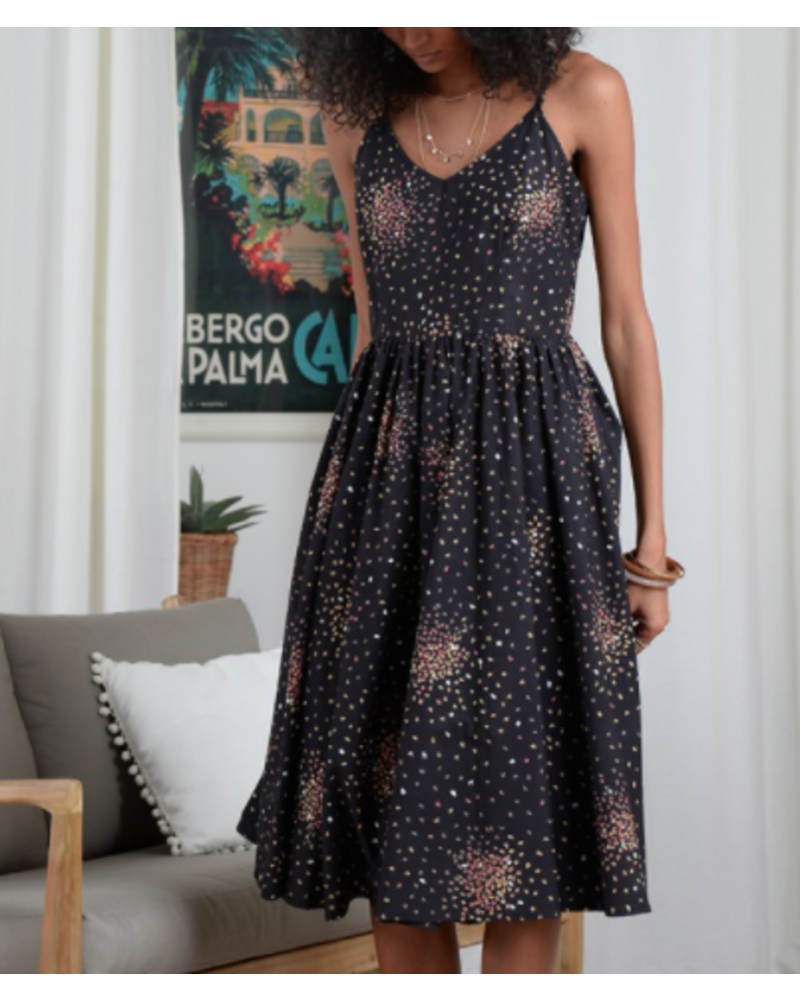 Molly Bracken Leaf Print Dress