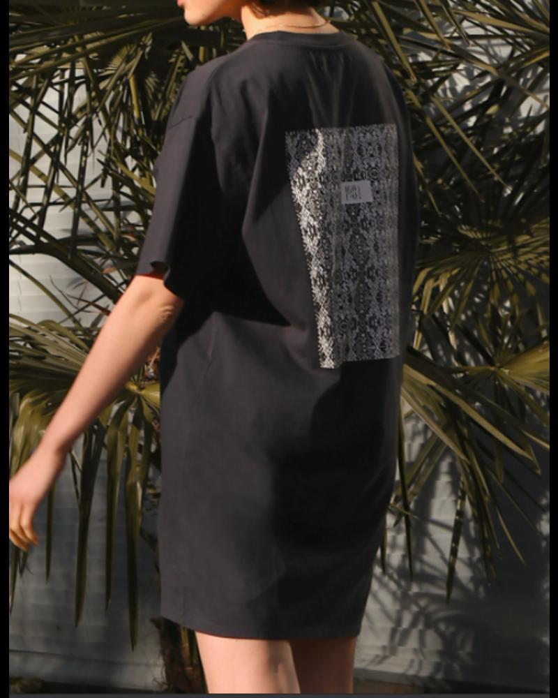 Brunette The Label Snake Print Tee Dress