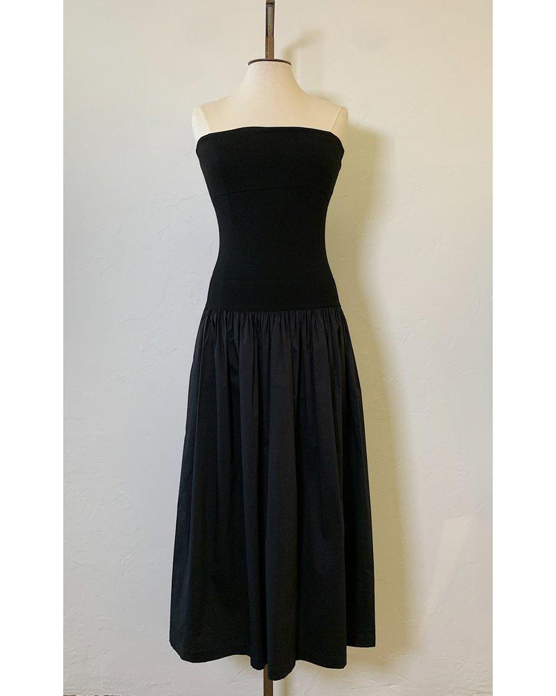 Liviana Conti Tube Top Poplin Dress