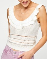 7 for all Mankind Crochet Ruffle Cami