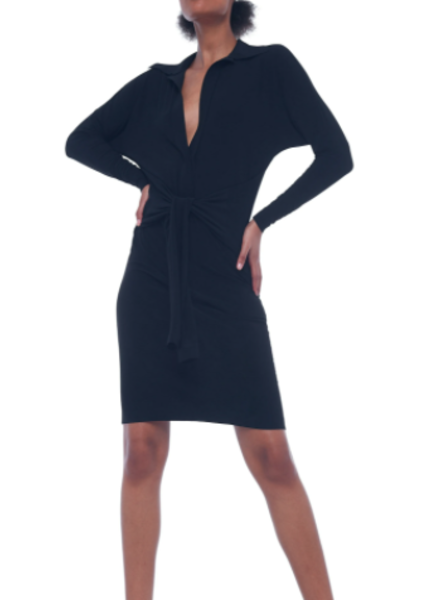 Norma Kamali Ty Front Shirt Dress
