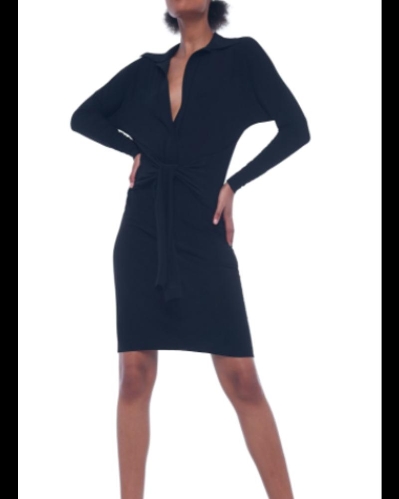 Norma Kamali Ty Front Shirt Dress