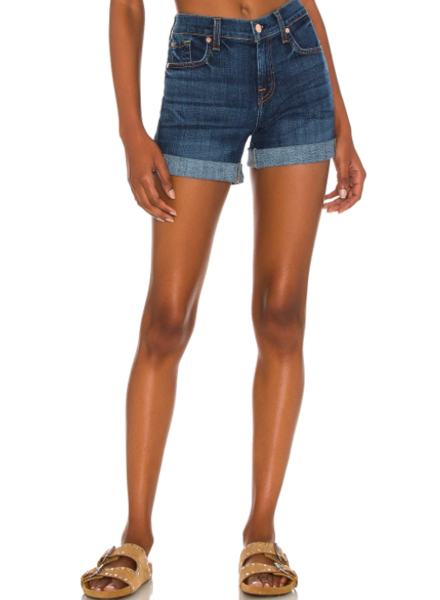 7 for all Mankind Relaxed Mid-Roll Short