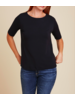 Majestic Boxy Elbow Slv Boatneck