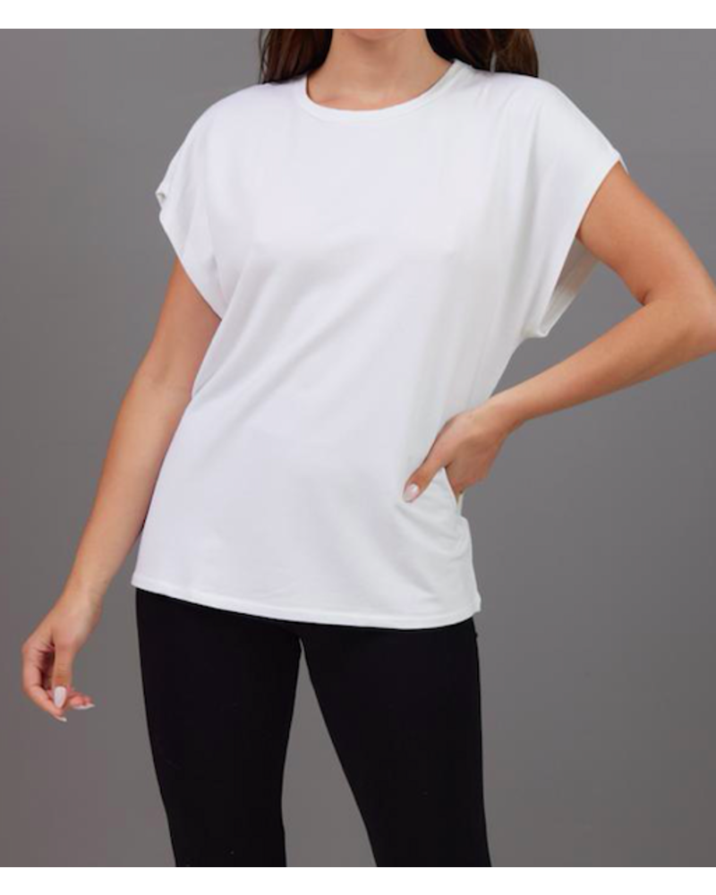 Majestic French Terry Semi Relaxed Crew Neck