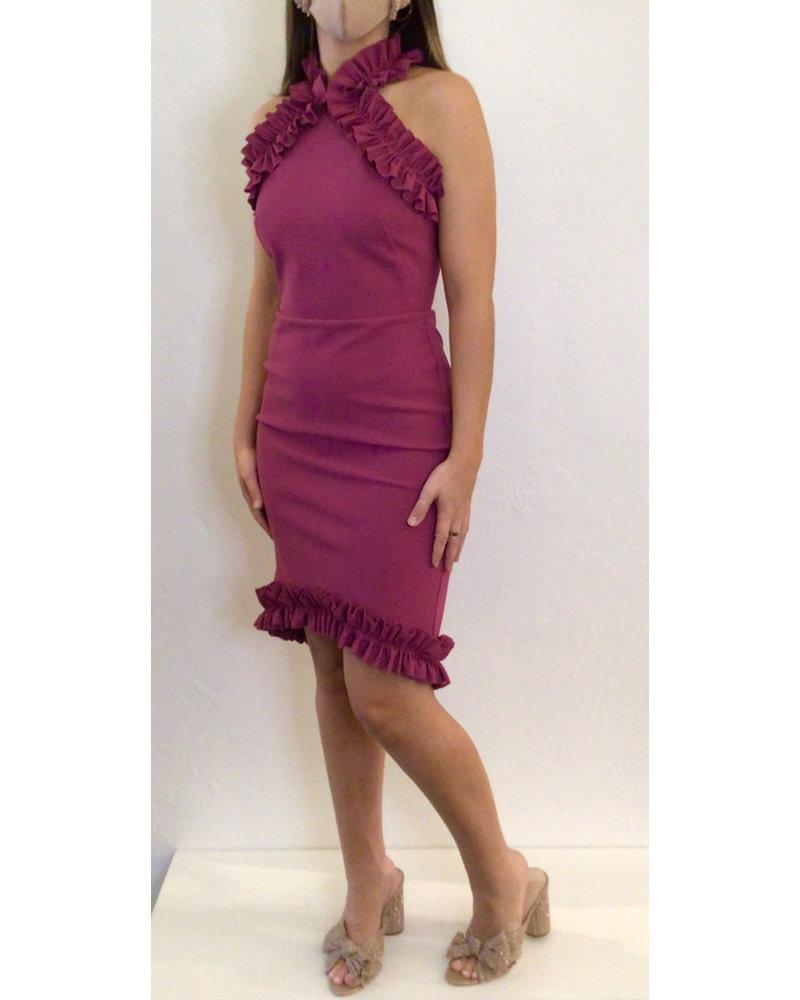 Greta Constantine Glencairn Halter Dress