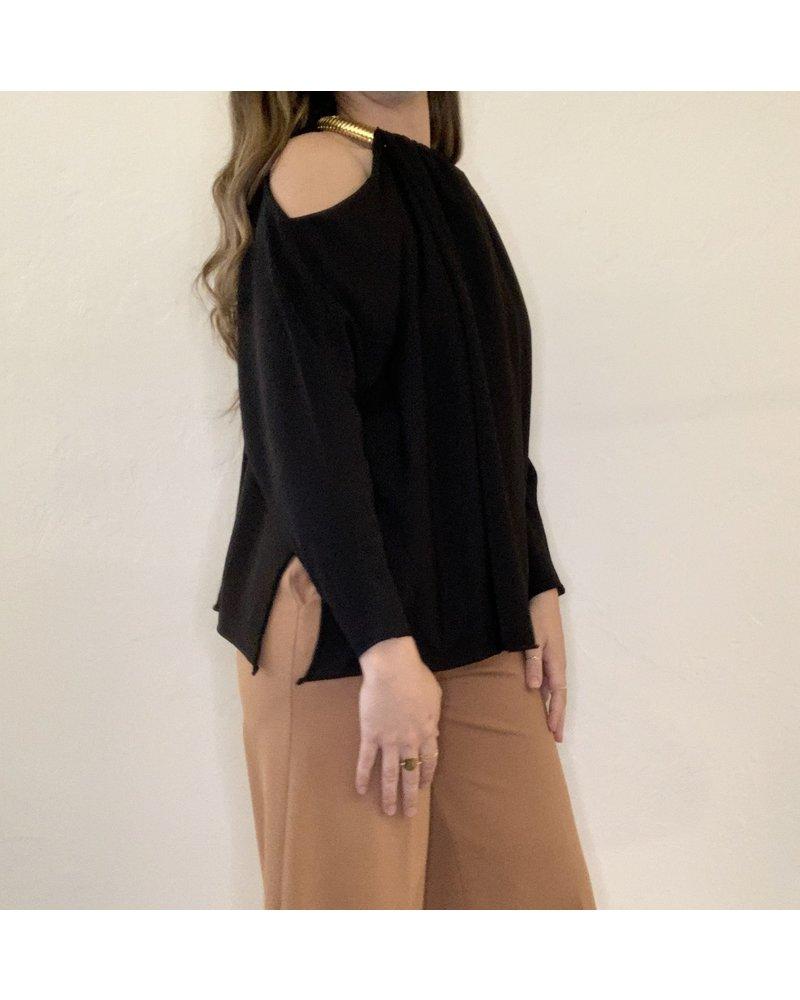 Liviana Conti Off Shoulder Knit Top