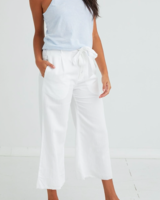 Bella Dahl Button Front Wide Leg Crop