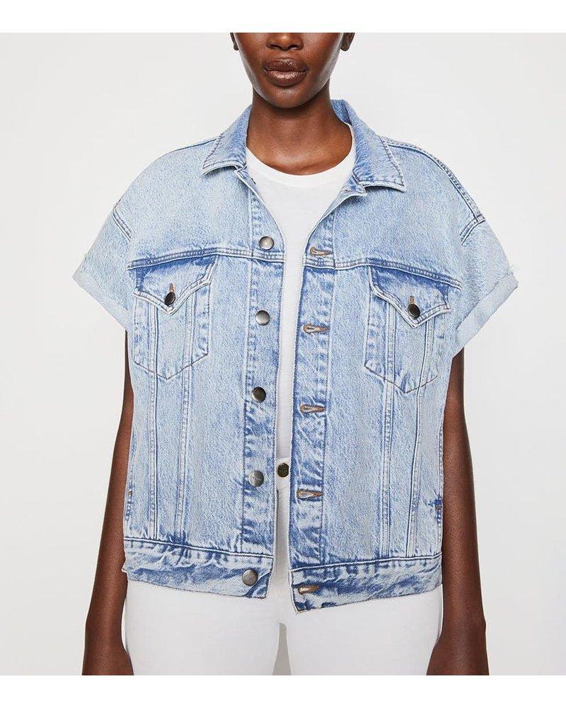 Frame Short Sleeve Stagger Jacket