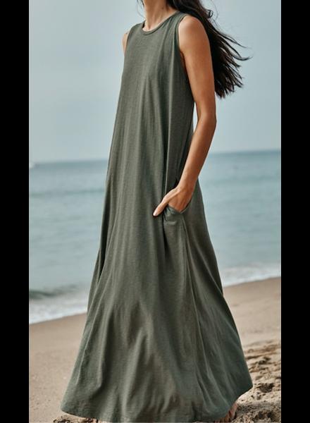 Velvet Cotton Slub Tank Dress