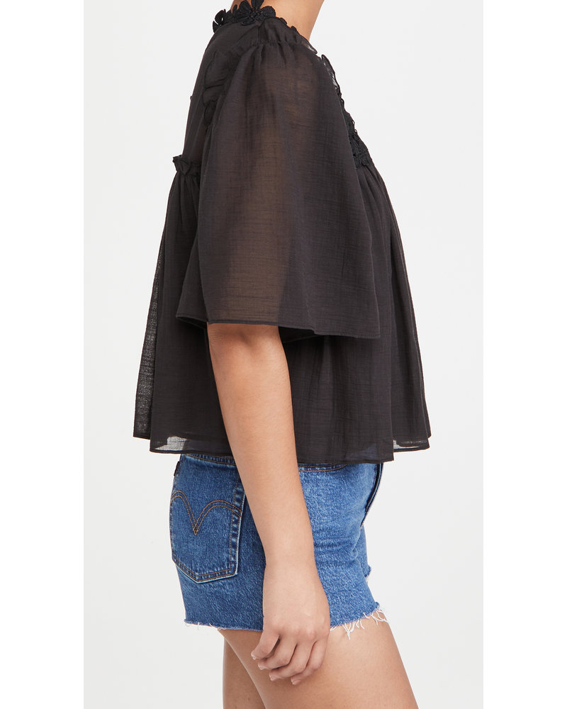 7 for all Mankind Ruffle Blouse