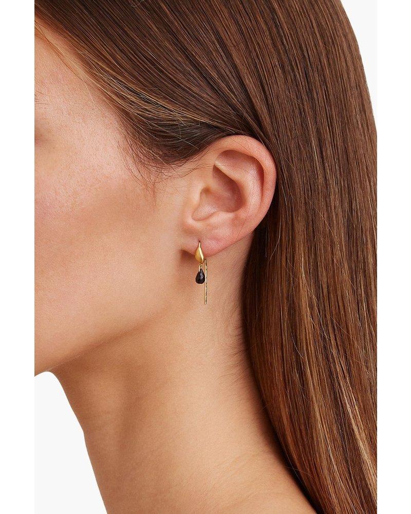 Chan Luu Gold Thread-Thru Earrings