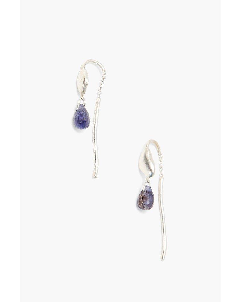 Chan Luu Silver Thread-Thru Earrings