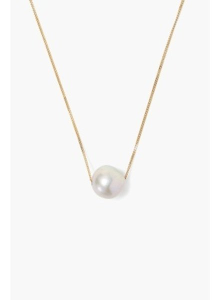 Chan Luu Gold Floating Pearl Necklace