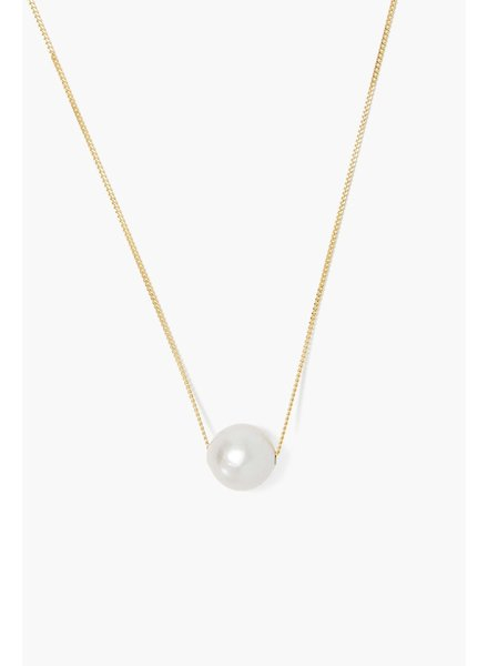 Chan Luu Long Gold Floating Pearl Necklace
