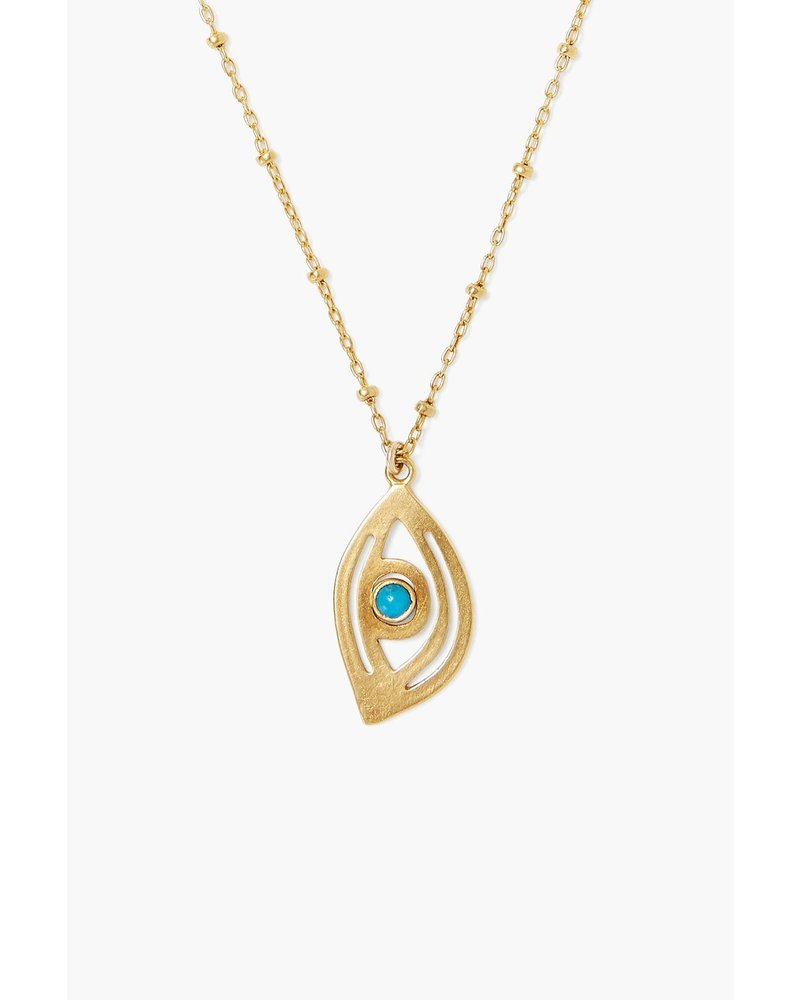 Chan Luu Grand Gold Evil Eye Necklace