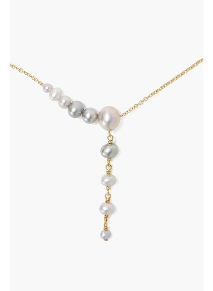 Chan Luu Graduated Gold Lariat Necklace