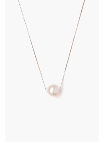 Chan Luu Silver Floating Pearl Necklace