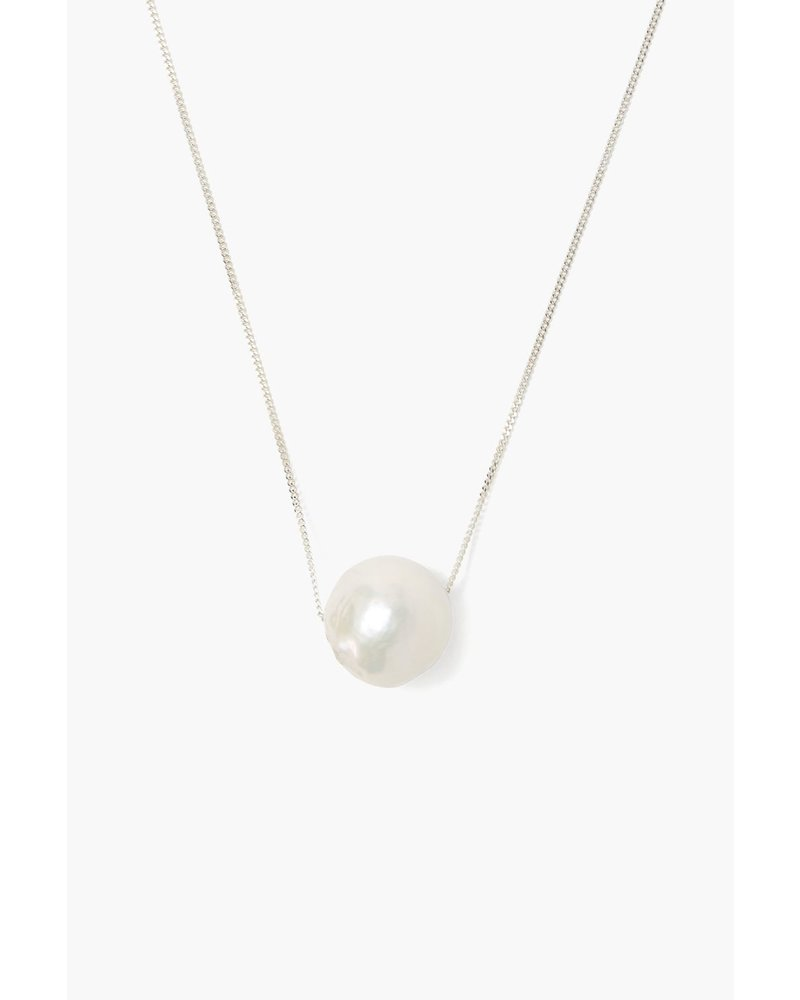 Chan Luu Long Silver Floating Pearl Necklace