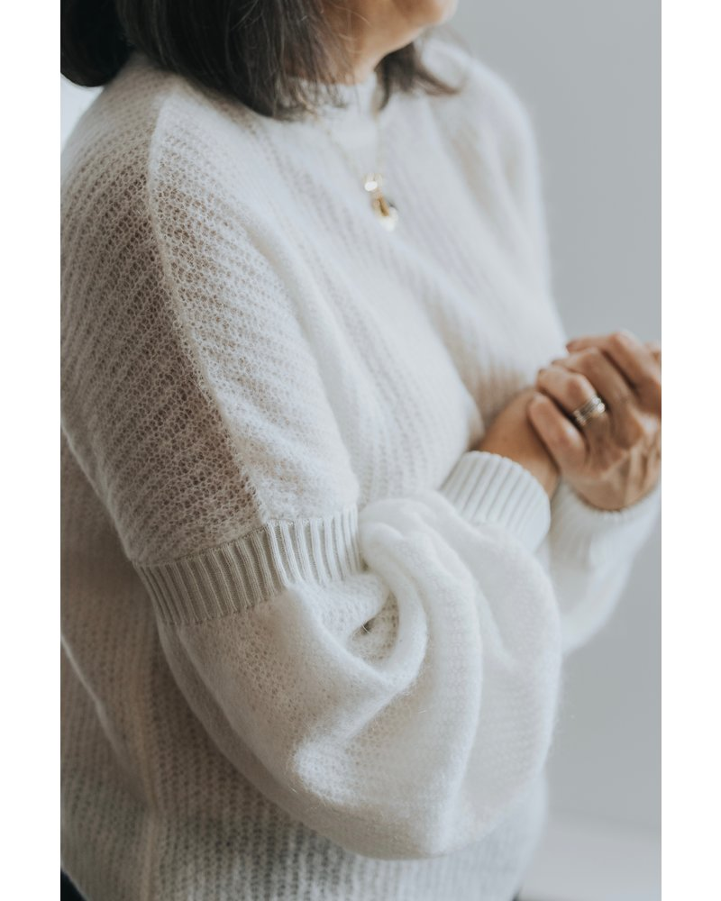 Sarah Pacini Balloon Sleeve Knit