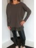 Sarah Pacini Tunic with Contrast Hem