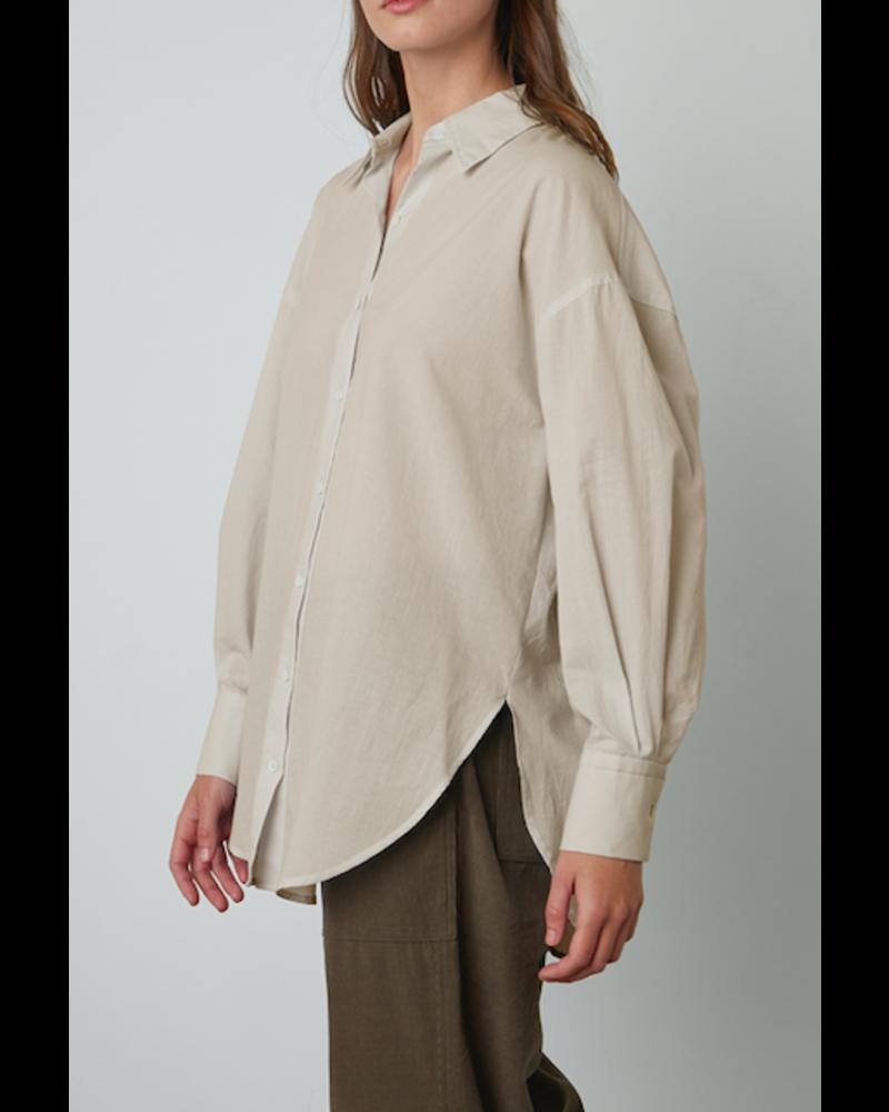 Velvet Cotton Shirting Top