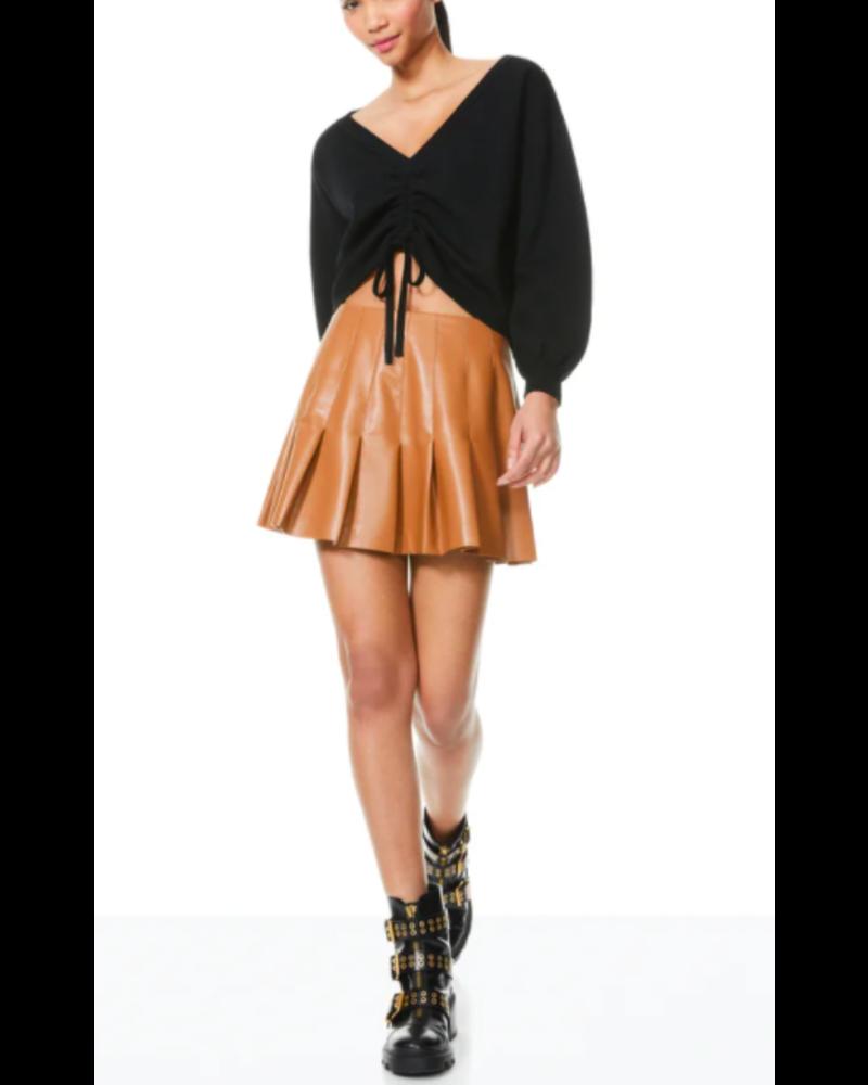 Alice + Olivia Carter Vegan Leather Mini Skirt
